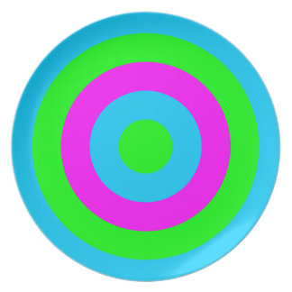 Corey Tiger 80s Style Neon Circles Plate