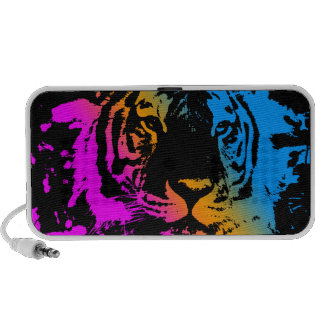 Corey Tiger 80s Style Tiger Face (Multicolor) Travelling Speakers