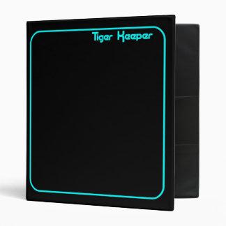 Corey Tiger 80s Style Tiger Keeper Black & Teal 3 Ring Binder