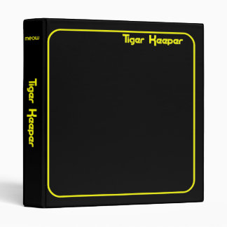 Corey Tiger 80s Style Tiger Keeper Black & Yellow 3 Ring Binder
