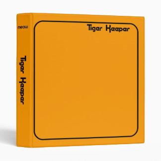 Corey Tiger 80s Style Tiger Keeper Orange & Black Binder