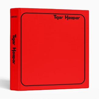 Corey Tiger 80s Style Tiger Keeper Red & Black Binder