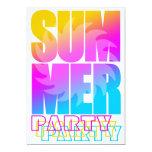 Corey Tiger 80s Summer Sun 5x7 Paper Invitation Card