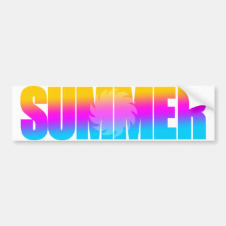 Corey Tiger 80s Summer Sun Bumper Sticker