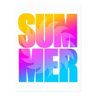 Corey Tiger 80s Summer Sun Post Card
