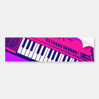 Corey Tiger 80s Synthesizer Keyboard Bumper Stickers