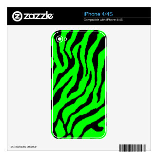 Corey Tiger 80s Tiger Stripes Green iPhone 4 Decal