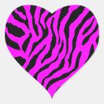 Corey Tiger 80s Tiger Stripes Heart Sticker