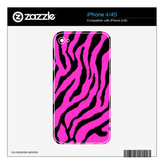 Corey Tiger 80s Tiger Stripes Hot Pink iPhone 4S Decals