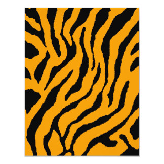 Corey Tiger 80s Tiger Stripes (Orange) Card