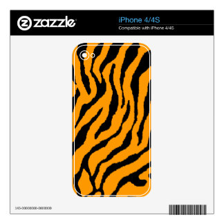 Corey Tiger 80s Tiger Stripes Orange Decal For iPhone 4