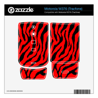 Corey Tiger 80s Tiger Stripes Red Decals For Motorola W376