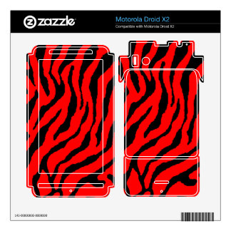 Corey Tiger 80s Tiger Stripes Red Motorola Droid X2 Skins