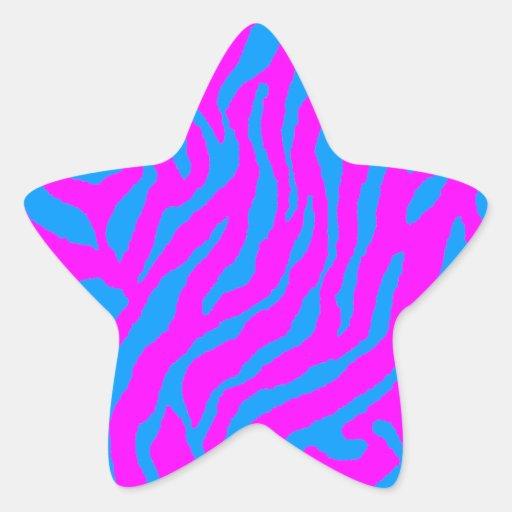 Corey Tiger 80s Tiger Stripes Star Sticker