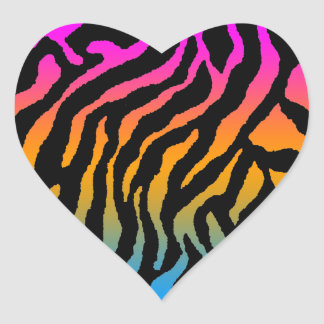 Corey Tiger 80s Tiger Stripes Heart Stickers