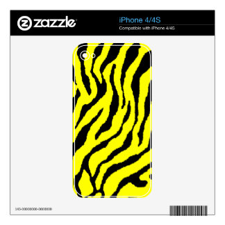 Corey Tiger 80s Tiger Stripes Yellow iPhone 4 Decal