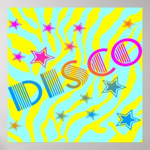 Corey Tiger 80s Vintage Disco Stars Poster