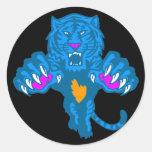 Corey Tiger 80s Vintage Fierce Pouncing Tiger Stickers