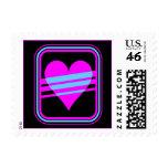 Corey Tiger 80s Vintage Heart & Stripes Postage Stamp