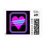 Corey Tiger 80s Vintage Heart & Stripes Postage Stamps