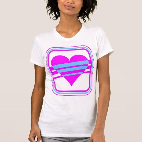Corey Tiger 80s Vintage Heart & Stripes T-Shirt