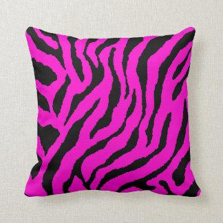 Corey Tiger 80s Vintage Neon Animal Stripes Throw Pillows