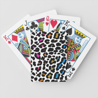 Corey Tiger 80s Vintage Neon Leopard Bicycle Playing Cards