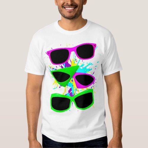Corey Tiger 80s Vintage Neon Sunglasses Splatter