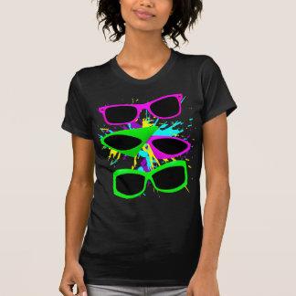 Corey Tiger 80s Vintage Neon Sunglasses Splatter T-Shirt