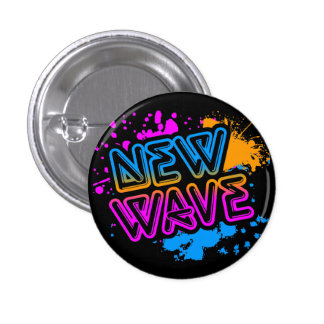 Corey Tiger 80s Vintage New Wave Neon Splatter Button