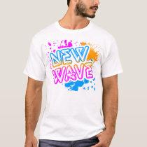 Corey Tiger 80s Vintage New Wave Neon Splatter T-Shirt