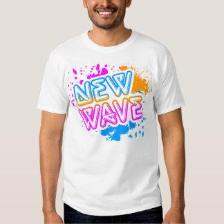 Corey Tiger 80s Vintage New Wave Neon Splatter Tee Shirts