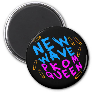 Corey Tiger 80s Vintage New Wave Prom Queen 2 Inch Round Magnet