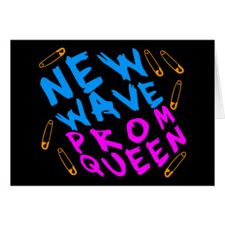Corey Tiger 80s Vintage New Wave Prom Queen Card