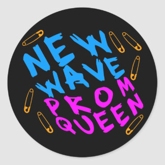 Corey Tiger 80s Vintage New Wave Prom Queen Classic Round Sticker