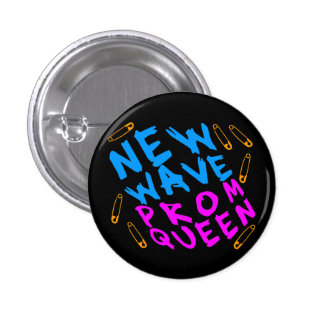 Corey Tiger 80s Vintage New Wave Prom Queen Pinback Button