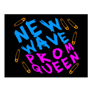 Corey Tiger 80s Vintage New Wave Prom Queen Postcard