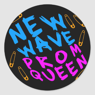 Corey Tiger 80s Vintage New Wave Prom Queen Round Sticker