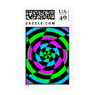 Corey Tiger 80s Vintage Op Art Stamp