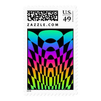 Corey Tiger 80s Vintage Op Art Postage Stamp