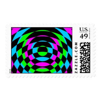 Corey Tiger 80s Vintage Op Art Stamps