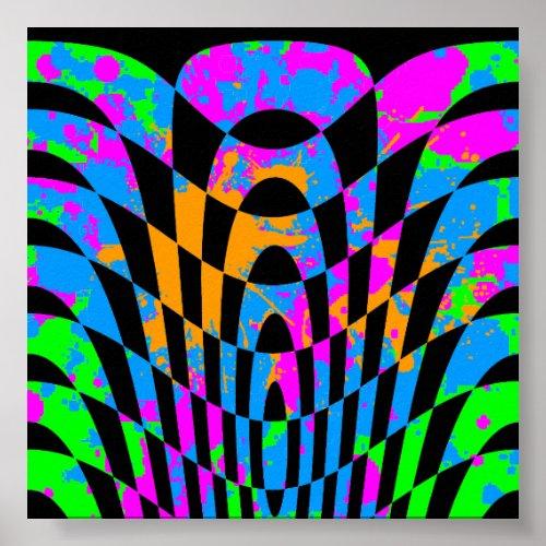 Corey Tiger 80s Vintage Op Art Poster