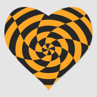 Corey Tiger 80s Vintage Op Art Heart Sticker