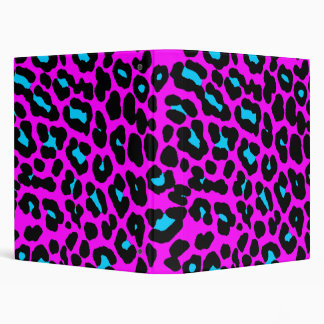Corey Tiger 80s Vintage Pink Leopard 3 Ring Binder