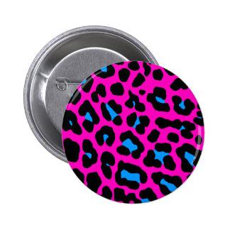 Corey Tiger 80s Vintage Pink Leopard 2 Inch Round Button