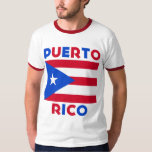 Corey Tiger 80s Vintage Puerto Rico Flag Tee Shirt