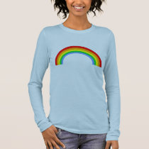 Corey Tiger 80s Vintage Rainbow Long Sleeve T-Shirt