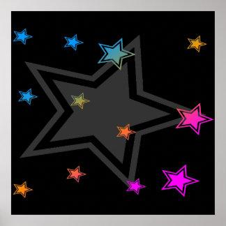 Corey Tiger 80s Vintage Stars Poster