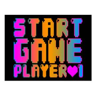 Corey Tiger 80s Vintage Start Game Player 1 Postcard