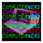 Corey Tiger 80s Vintage Style Computer Nerd Poster